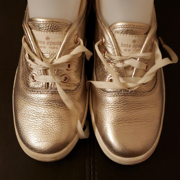 Keds Kate Spade Gold Sneakers. Size: 5.